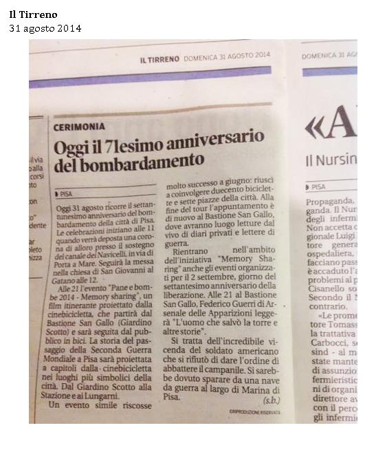 Il Tirreno 31 agosto 2014 2