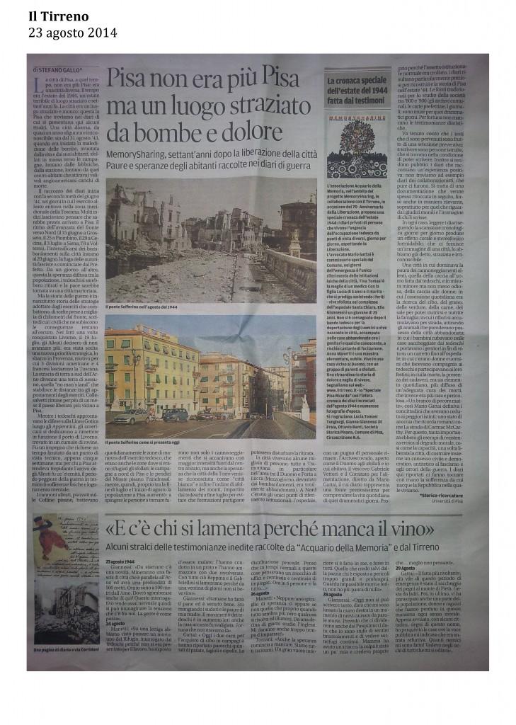 Il Tirreno 23 agosto 2014 2