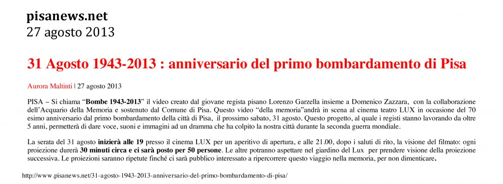Pisanews.net 27 agosto 2013