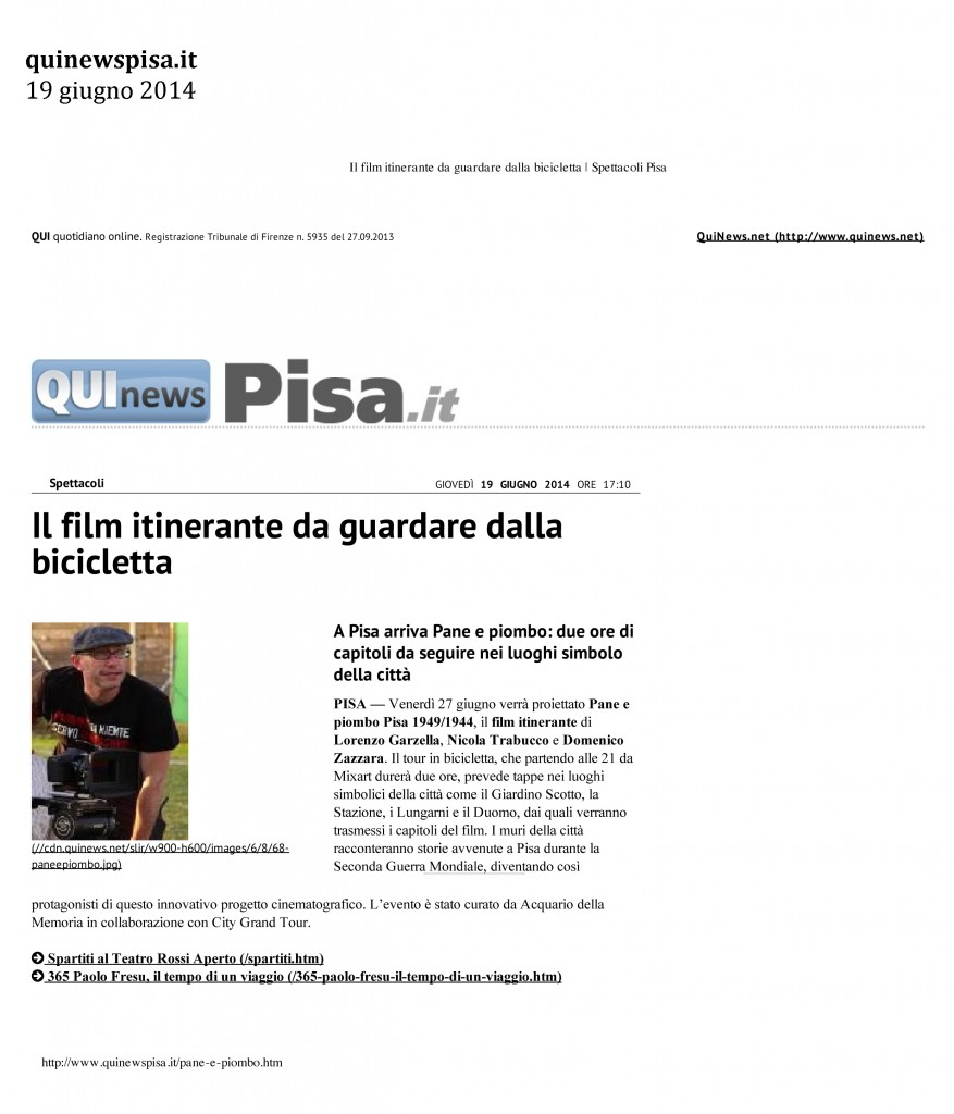 Quinewspisa.it 19 giugno 2014
